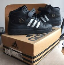 Vintage 2000 Adidas Forum Mid black Silver 10 superstar top ten js wings White