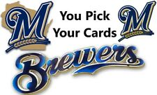 You Pick Your Cards - Milwaukee Brewers Team - Baseball Card Selection