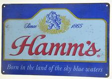 "Hamm'S Hamms Sky Blue Waters Retro Tin Metal Beer Sign Bar Man Cave 12x8"" New"