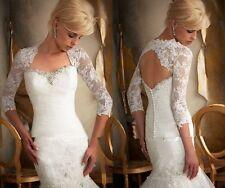 Bolero Jacke  Spitze Braut zum Hochzeit Brautkleid Größe 32-42