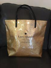 Kate Spade New York Gold Sparkle Glitter Bon Shopper Tote Live Colorfully