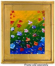 Wild Flowers Leaves Natasha Petrosova original  painting  Impressionism 287