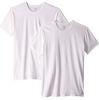 Calvin Klein Men's Cotton Stretch Crew Neck T-Shirts 2-pack  White Size S