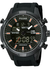 Pulsar PW6007X1 Gents Watch Analogue & Digital, Alarm, Chrono Black Ion