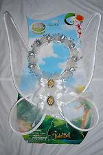 Disney Store White Tinkerbell Wings Faries Tiara Crown Rosetta Silvermist Angel