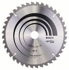 Bosch Optiline Wood Circular Saw Blade 254x30x40 2608640435