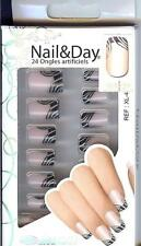 24 FAUX-ONGLES +COLLE - FRENCH MANUCURE - NAIL ART Réf/XL4 - MAKE UP  MODELITE