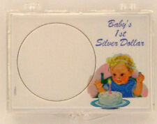 ASE Baby's 1st Dollar, 2x3 Snap Lock Coin Holder, 3 pack