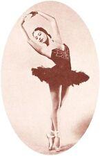 SILK PRINT Vintage Ballerina Sepia Tones 004 use in collage Fiber Arts applique