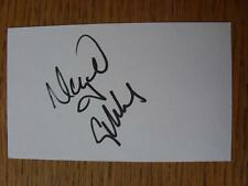 50's-2000's Autographed White Card: Gibbs, Nigel - Watford