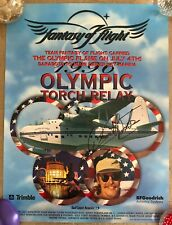 Fantasy of Flight Poster: The Olympic Torch Relay 1996, Kermit Weeks, Signed