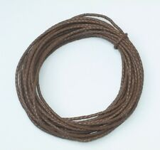 4 mm Light Brown (Tobacco) Braided Leather Cord Bolo10 Meter Length