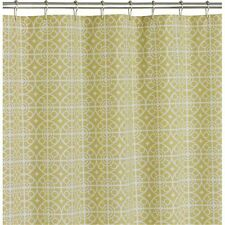 Crate U0026 And Barrel TAZA Citron SHOWER CURTAIN! NEW Without Tags!