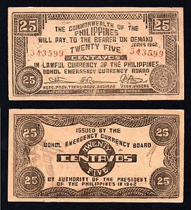 Filippine / Commonwealth of the Philippines - 25 centavos 1942 SUP/AU  A-02