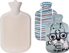 WINN Hot Water Bottle 2 Liters, Natural Rubber Hot Water Bag with 2 Replaceable