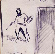 ARTISTE PEINTRE petit dessin humour portrait drôle comique ART Frédéric BELAUBRE