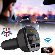UK Car Wireless FM Transmitter Bluetooth Dual USB Charger Audio MP3 Player  Kit