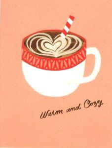 Happy Holidays Hot Chocolate Warm & Cozy Theme 100 Fold Hallmark Greeting Card