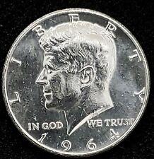1964 Kennedy Silver 1/2 Dollar Brilliant Uncirculated 90% Silver Coin