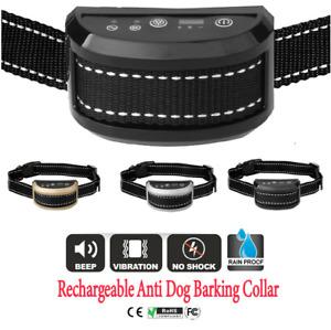 Anti Bark Dog Training Collar Sound & Vibration Stop Barking Automatic Pet Auto