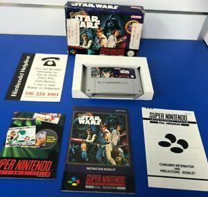 Super Nintendo Super Star Wars SNES Pal - Complete and Tested