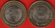"India 10 rupees 2015 ""Gandhi return from South Africa"" BiMetallic UNC"