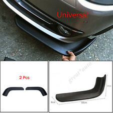 2PCS Car Bumper Spoiler Twist AntiScratch Splitter Diffuser SUV ABS Front Shovel