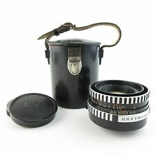 M42 Zeiss Jena Zebra PANCOLAR 1,8/50 Thorium Glas Objektiv / lens + Case