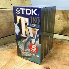 TDK TV 180 VHS VIDEOCASSETTA (5 CONF.) in bianco di registrazione cassette