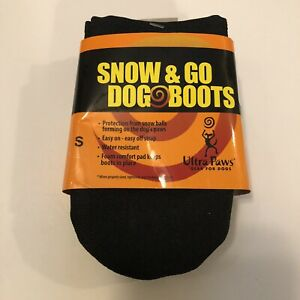 Ultra Paws Snow & Go Dog Boots Size SMALL Washable Reusable NEW - Light Duty