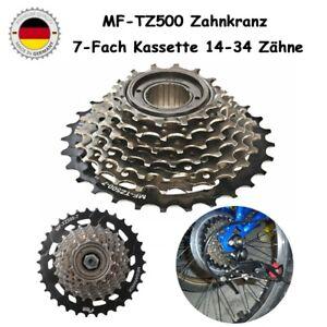 Für Shimano MF-TZ500 Zahnkranz 7-Fach Kassette Freilauf 14-34 Zähne Schraubkranz