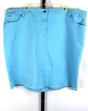 Talbots Light Blue Denim Skirt Plus Size 22W