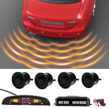 Car Rear Reversing Parking Sensors 4 Sensors Kit Audio Buzzer Alarm LED Display