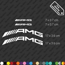 x4 AMG Mercedes Benz 63 calliper sticker restoration decal kit high temp - White