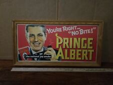 """PRINCE ALBERT TOBACCO LITHO 1935 """"YOU'RE RIGHT NO BITE"""" PAPER ADVERTISING SIGN"""