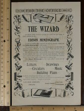 Rare Orig VTG Edison Mimeograph Smith Premier Typewriter Advertising Art Print