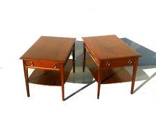mid century danish modern pair walnut end tables nightstands mersman restored