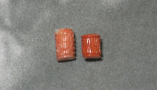 ~(coral) ~7.5mm*6.5mm,10mm*5.5mm(e c920). Beauty Hand Carving Cameo