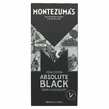 (4 PACK) Montezuma's Absolute Black Dark Chocolate Bar 90g ***New Pack & Size***