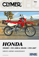 Clymer Repair Manuals HONDA XR600R 1991-2000,XR650L 1993-2012; Motorcycle M221