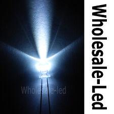 100pcs 3mm 2- Pin Long Leg Round Top Cool White LED Super Bright 20000MCD Light