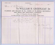 Billhead 1895 William H. Greenleaf, Dr.: Decatur Connection