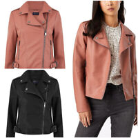 Fa M ou S High St Women's Biker Jacket Made From Vegan Synthetic Fabric RRP £45
