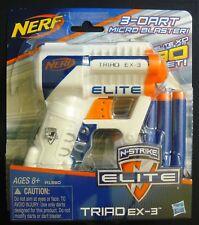 Nerf N-Strike Elite Micro Triad EX-3 Blaster Darts Toy Gun Play Kids Fun