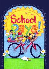 #149A BACK TO SCHOOL DAYS TEACHER'S  HOUSE FLAG 28X40 BANNER