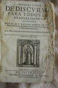 17th Century Spanish Book-Vellum-700 Pages-Salamanca-1608
