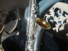 Vintage Silver Plated Alto Saxophone Beautiful Sax Make Offer Free Shipping !!