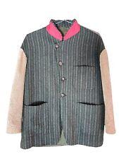 Vtg 90s Dolce & Gabbana Mens Patchwork Alpaca Silk Cotton Wool Jacket Coat sz L
