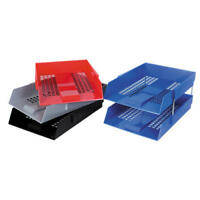 A4 Deflecto Contract Office Desk Top Organiser Paper Filing Letter Tray + Risers