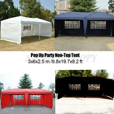 10' X 20' Outdoor Patio Gazebo Party Tent Non-Top Wedding Canopy with Carry  #